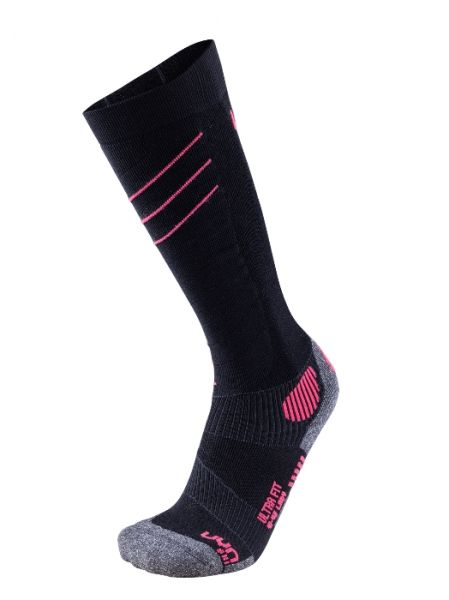 UYN Lady Ski Ultra Fit Socks black pink /paradise 2019/20